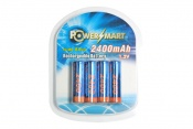 Nickel-Metal Hydride Rechargeable 2400mAh AA 4-Pack